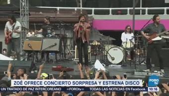 #LoEspectaculardeME: Zoé ofrece concierto sorpresa y estrena disco en la CDMX
