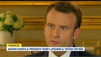 Macron Pide Trump Retirarse Acuerdo Nuclear Irán