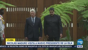 Maduro Visita Nuevo Presidente Cuba, Miguel Díaz-Canel
