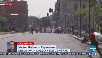 Manifestación afecta Eje Central, en el centro de la CDMX