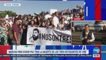 Marchan para exigir paz y justicia en Guadalajara, Jalisco