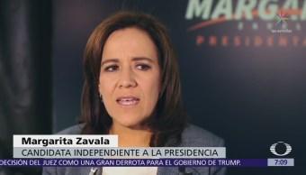 Margarita Zavala califica de absurdo debate entre AMLO y Meade sobre departamentos