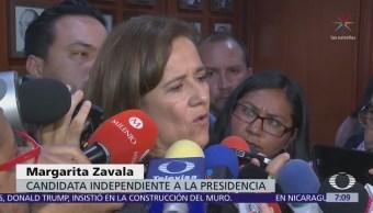 Margarita Zavala expresa desacuerdo con la reforma fiscal