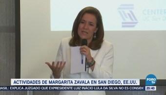 Zavala habla en California sobre la situación de México y EU