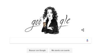 Google rinde tributo con doodle a María Félix, a 104 años de su nacimiento