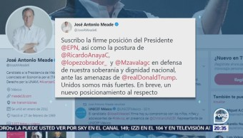 Meade apoya postura de EPN sobre ataques de Trump
