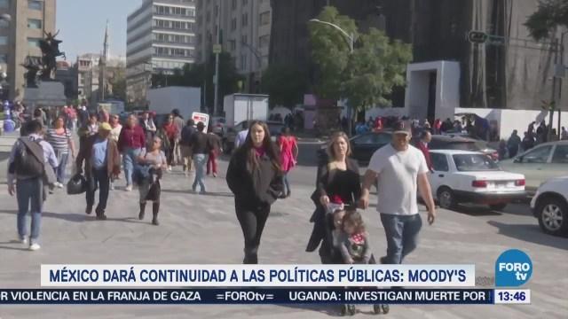 México Dará Continuidad Políticas Públicas Moody's