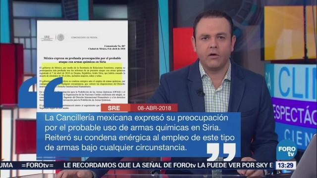 México expresa 'profunda preocupación' por presunto ataque químico en Siria