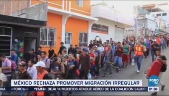 México responde a Trump que no promueve la migración irregular