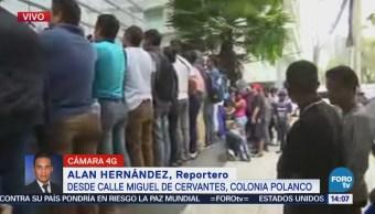 Miembros del Viacrucis Migrante realizan mitin frente a la ONU en México