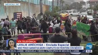 Migrantes Protestas Visita Pence Frontera