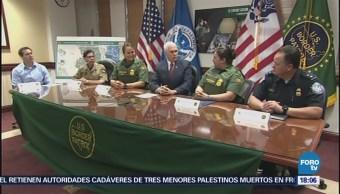 Mike Pence Supervisa Construcción Muro Fronterizo México