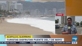 Miles de turistas disfrutan Acapulco por el puente del 1 de mayo