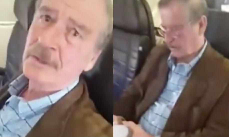 Mujer encaró a Vicente Fox, así reaccionó el expresidente
