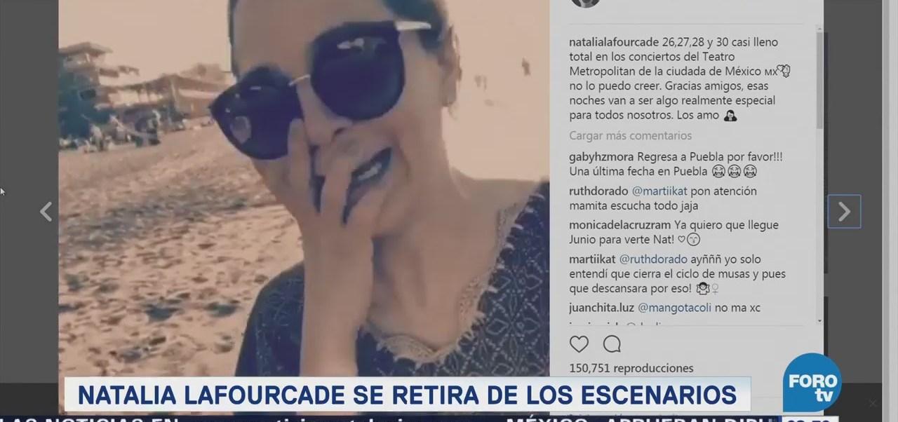 Natalia Lafourcade se retira de los escenarios