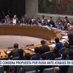 ONU rechazó condena propuesta por Rusia ante ataques en Siria