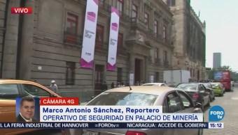 Operativos Seguridad Palacio Minería Primer Debate Presidencial