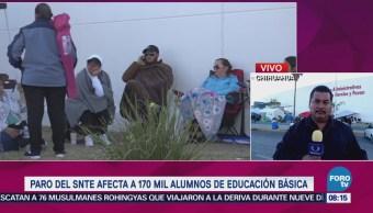 Paro SNTE Afecta Alumnos Educación Básica Chihuahua