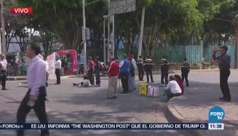 Personas con discapacidad visual bloquean Municipio Libre y Cuauhtémoc