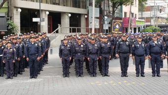Se incorporan 150 nuevos cadetes a tareas de seguridad en CDMX