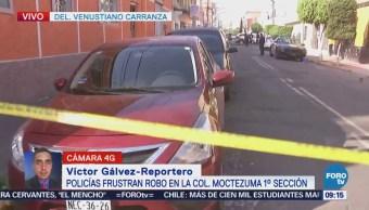Policías frustran robo en la colonia Moctezuma, delegación Venustiano Carranza