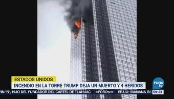 Presidente de EU agradece a bomberos su labor en incendio de Torre Trump