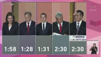 Primer debate de los candidatos presidenciales