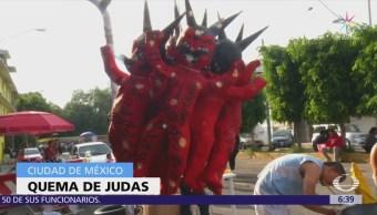 Quema de 'Judas' en la colonia Merced Balbuena