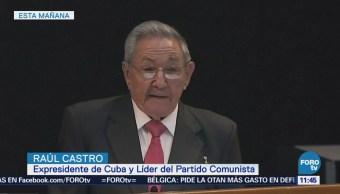 Raúl Castro seguirá al frente del Partido Comunista hasta 2021