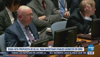 Rusia Veta Propuesta Eu Investigar Ataques Químicos Siria