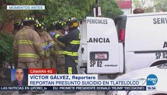Reportan Presunto Suicidio Tlatelolco, Cdmx