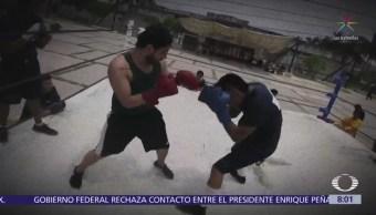 Reclusos de penal en Morelos practican box como parte de su reinserción