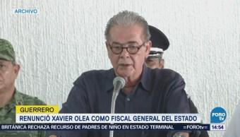 Renuncia el fiscal de Guerrero Xavier Olea Peláez