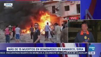 Reportan Más 15 Muertos Bombardeo Damasco, Siria