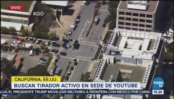 Reportan Tirador Activo Sede Youtube California