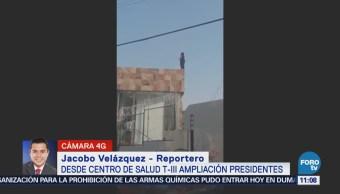 Rescatan a mujer que amenazaba con suicidarse en Ampliación Presidentes, Álvaro Obregón