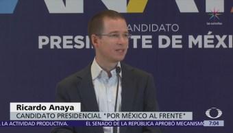 Ricardo Anaya denuncia incongruencia de AMLO por uso de avión privado