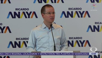 Ricardo Anaya dice que sólo le interesa debatir con López Obrador