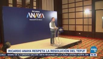 Ricardo Anaya Respeta Resolución Tepjf