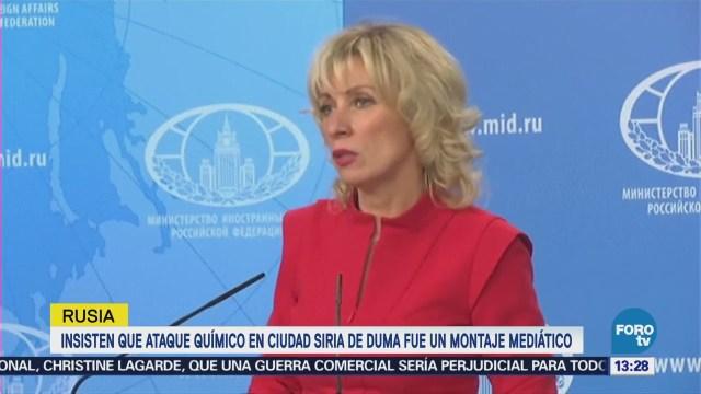 Rusia dice que ataque químico en Siria fue montaje