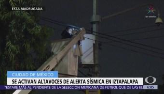 Se activan altavoces de alerta sísmica en Iztapalapa, CDMX