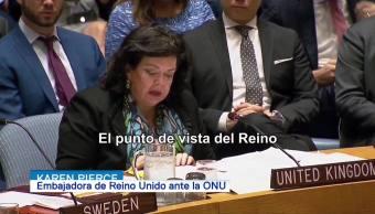 Se debe acabar con el programa de armas químicas en Siria Karen Pierce