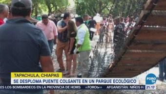 Desploma Puente Colgante Parque Tapachula Chiapas