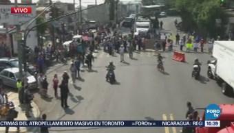 Se registra bloqueo en la carretera federal México-Cuernavaca