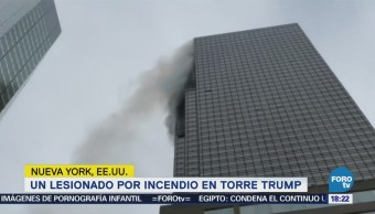 Se registra incendio en la Torre Trump, en Manhattan
