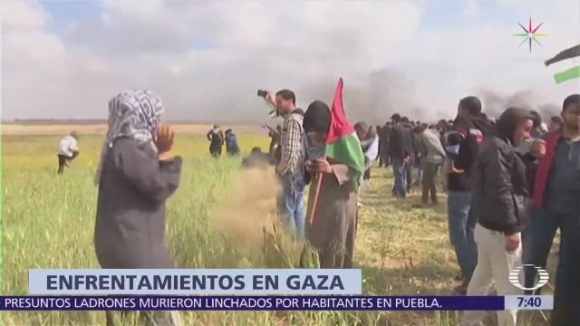 Se registran nuevas protestas y enfrentamientos en Gaza