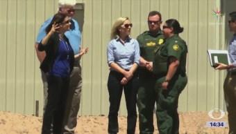 Secretaria Nielsen visita frontera con México