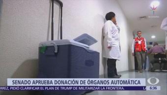 Senado aprueba reforma que convierte a ciudadanos en donadores de órganos