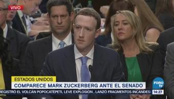 Senadores Eu Cuestionan Mark Zuckerberg Cambridge Analytica