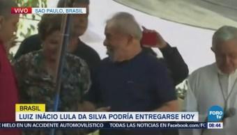 Simpatizantes Lula Expresan Apoyo Expresidente Brasileño